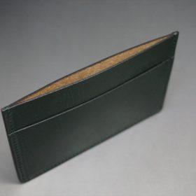 クレイトン社製ブライドルレザーのグリーン色のカードケース-1-6