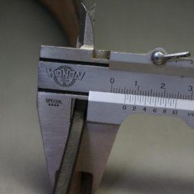 J.ベイカー社製ブライドルレザーのダークブラウン色の30mmベルト(ビジネスバックル/ゴールド色/M)-1-12