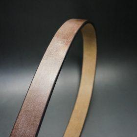 J.ベイカー社製ブライドルレザーのダークブラウン色の30mmベルト(ビジネスバックル/ゴールド色/M)-1-3