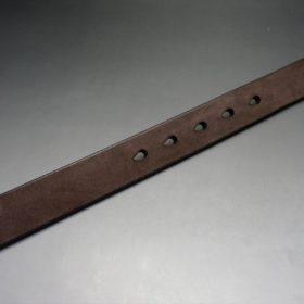 J.ベイカー社製ブライドルレザーのダークブラウン色の30mmベルト(ビジネスバックル/ゴールド色/M)-1-9