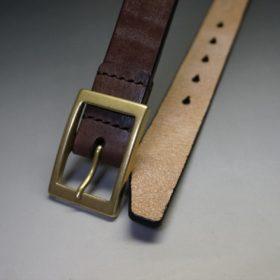 J.ベイカー社製ブライドルレザーのダークブラウン色の30mmベルト(カジュアルバックル/ゴールド色)-1-2