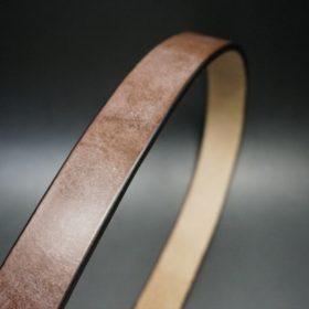 J.ベイカー社製ブライドルレザーのダークブラウン色の30mmベルト(カジュアルバックル/ゴールド色)-1-3