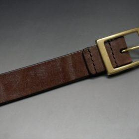 J.ベイカー社製ブライドルレザーのダークブラウン色の30mmベルト(カジュアルバックル/ゴールド色)-1-6