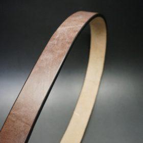 J.ベイカー社製ブライドルレザーのダークブラウン色の30mmベルト(カジュアルバックル/ゴールド色/M)-1-3
