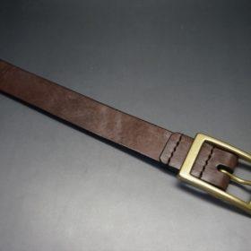 J.ベイカー社製ブライドルレザーのダークブラウン色の30mmベルト(カジュアルバックル/ゴールド色/M)-1-4
