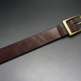 J.ベイカー社製ブライドルレザーのダークブラウン色の30mmベルト(カジュアルバックル/ゴールド色/M)-1-5