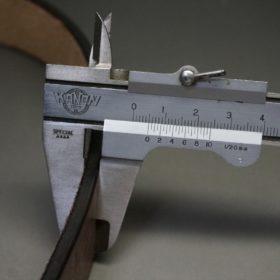 J.ベイカー社製ブライドルレザーのダークブラウン色の30mmベルト(カジュアルバックル/シルバー色/S)-1-12