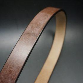 J.ベイカー社製ブライドルレザーのダークブラウン色の30mmベルト(カジュアルバックル/シルバー色/S)-1-3