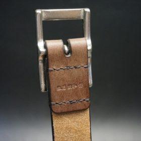 J.ベイカー社製ブライドルレザーのダークブラウン色の30mmベルト(カジュアルバックル/シルバー色/S)-1-8