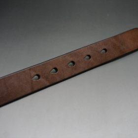 J.ベイカー社製ブライドルレザーのダークブラウン色の30mmベルト(カジュアルバックル/シルバー色/S)-1-9