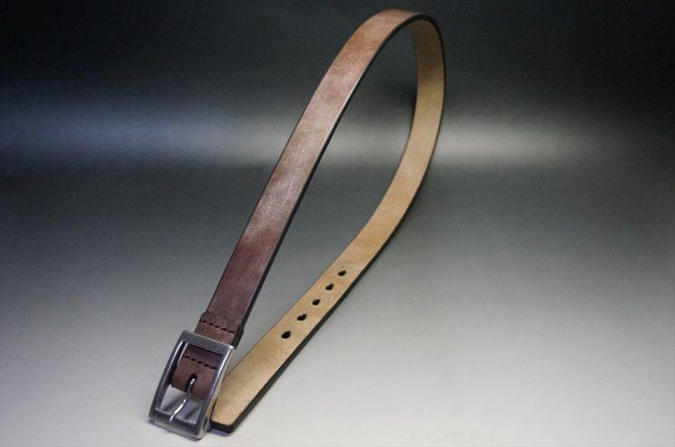 J.ベイカー社製ブライドルレザーのダークブラウン色の30mmベルト(カジュアルバックル/シルバー色)-1-1