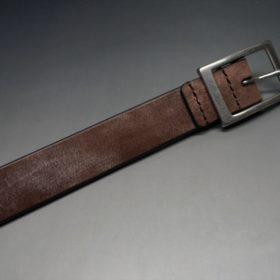 J.ベイカー社製ブライドルレザーのダークブラウン色の30mmベルト(カジュアルバックル/シルバー色)-1-6