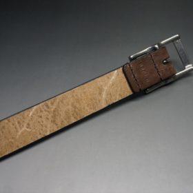J.ベイカー社製ブライドルレザーのダークブラウン色の30mmベルト(カジュアルバックル/シルバー色)-1-7