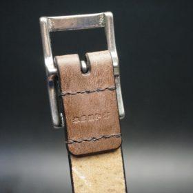 J.ベイカー社製ブライドルレザーのダークブラウン色の30mmベルト(カジュアルバックル/シルバー色)-1-8