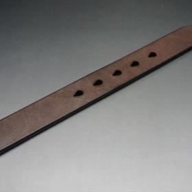J.ベイカー社製ブライドルレザーのダークブラウン色の30mmベルト(カジュアルバックル/シルバー色)-1-9