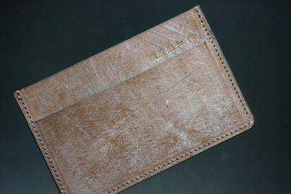 J.ベイカー社製ブライドルレザーのダークブラウン色のカードケース-1-1