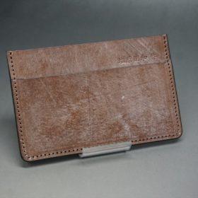 J.ベイカー社製ブライドルレザーのダークブラウン色のカードケース-1-2