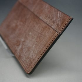 J.ベイカー社製ブライドルレザーのダークブラウン色のカードケース-1-3