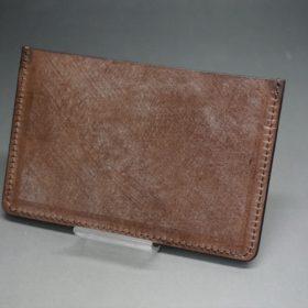 J.ベイカー社製ブライドルレザーのダークブラウン色のカードケース-1-4