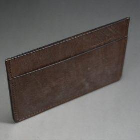 J.ベイカー社製ブライドルレザーのダークブラウン色のカードケース-1-6