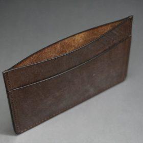J.ベイカー社製ブライドルレザーのダークブラウン色のカードケース-1-7
