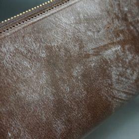 J.ベイカー社製ブライドルレザーのダークブラウン色のラウンドファスナー長財布(ゴールド色)-1-3