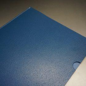 トーマスウェア社製ブライドルレザーのブルー色の床革ファイル-2-3