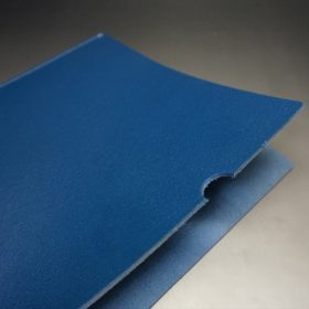 トーマスウェア社製ブライドルレザーのブルー色の床革ファイル-2-4