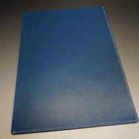 トーマスウェア社製ブライドルレザーのブルー色の床革ファイル-2-6