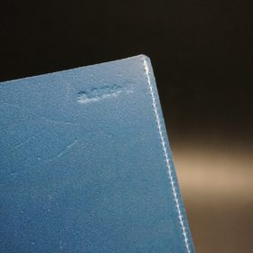 トーマスウェア社製ブライドルレザーのブルー色の床革ファイル-2-7