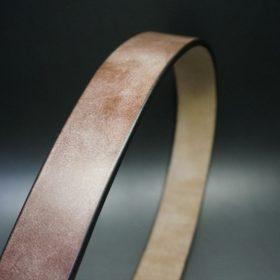 J.ベイカー社製ブライドルレザーのダークブラウン色の40mmベルト(ビジネス&カジュアルバックル/シルバー色/L)-1-3