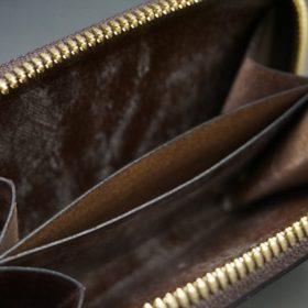 J.ベイカー社製ブライドルレザーのダークブラウン色の小銭入れ(ゴールド色)-1-10