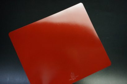 コードバンの光沢レッド色のマウスパッド-7-1