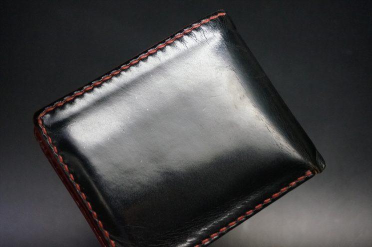 ブライドルレザーの経年変化をした二つ折り財布