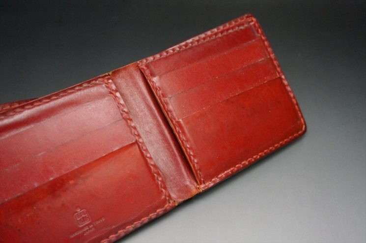 10年間使用した二つ折り財布の内側