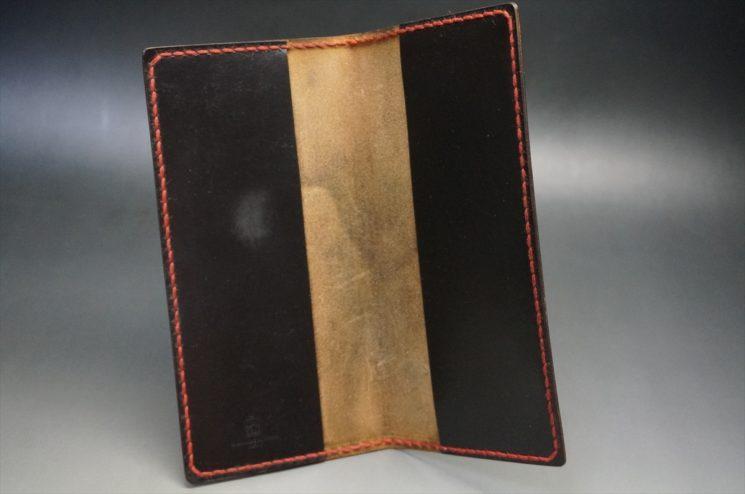 経年変化をした手帳カバーの内側