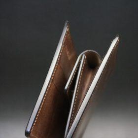 二つ折り財布のコバ処理