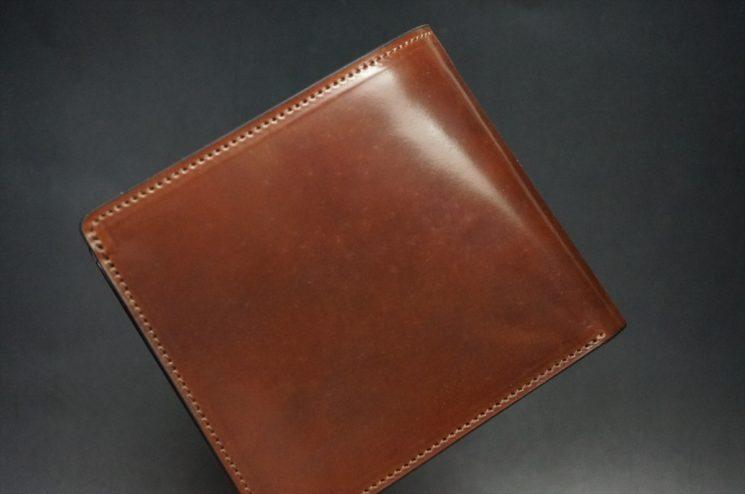 ホーウィンコードバンの小銭入れなしタイプの二つ折り財布