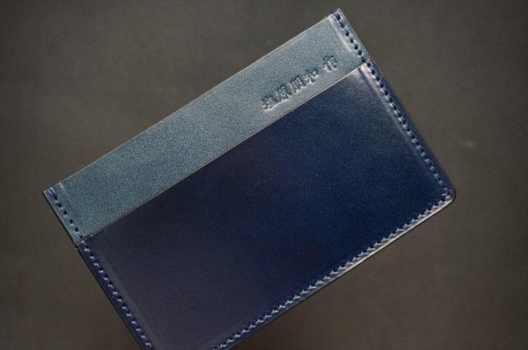 染料仕上げコードバンのカードケース