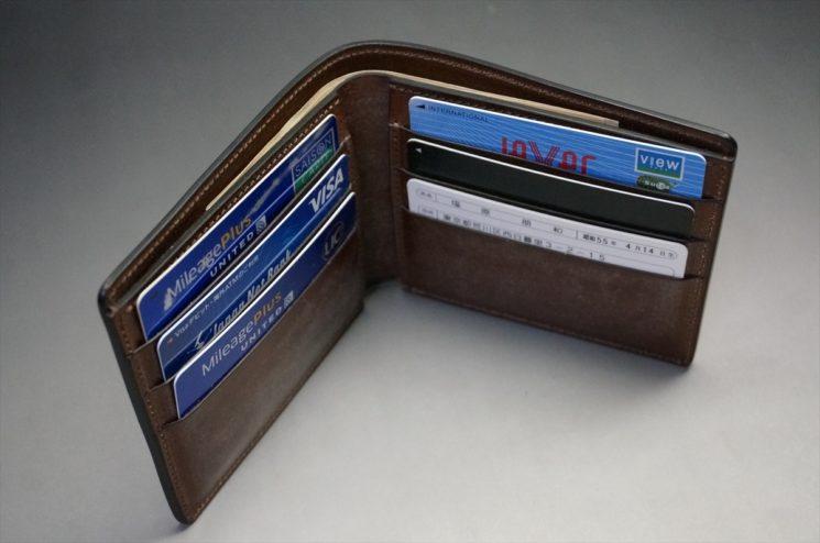 2週間使用した財布の内側