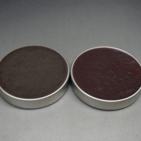 ダークブラウンとバーガンディの色味の比較