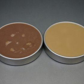 ライトブラウンとベージュの色味の比較
