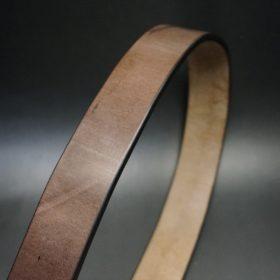 J.ベイカー社製ブライドルレザーのダークブラウン色の帯