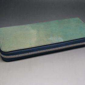 ラウンドファスナー長財布の背面