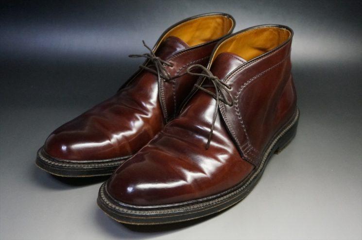 10年使用したコードバンの靴