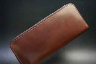 ホーウィン社製シェルコードバンの#4のラウンドファスナー長財布