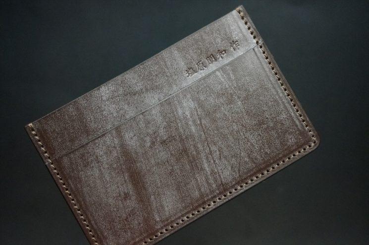 ブライドルレザーのカードケース