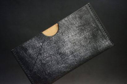 J.ベイカー社製ブライドルレザーのブラック色のシンプル名刺入れ