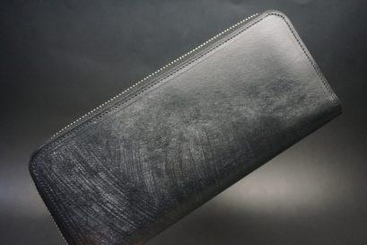 J.ベイカー社製ブライドルレザーのブラック色のラウンドファスナー長財布