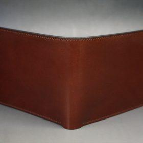 ホーウィン社製シェルコードバンの#2色の二つ折り財布